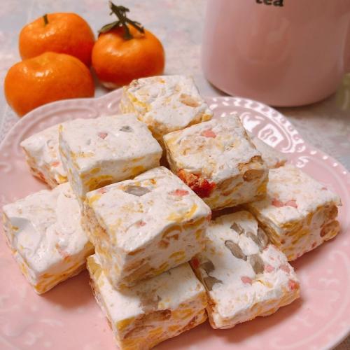 手工休闲零食 蔓越莓+提子 雪花酥糖